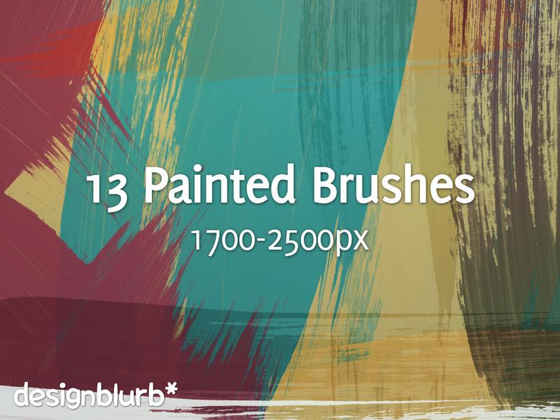 13 가지 무료 포토샵 페인트 브러쉬 - 13 Free Photoshop Painted Brushes