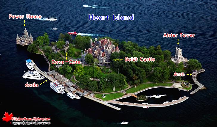 미국과 캐나다의 천섬 하이라이트 '볼트성' 소개와 가슴시린 사랑 이야기