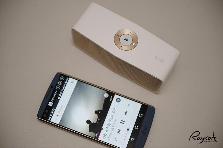 포터블스피커 NP5550과 LG V10