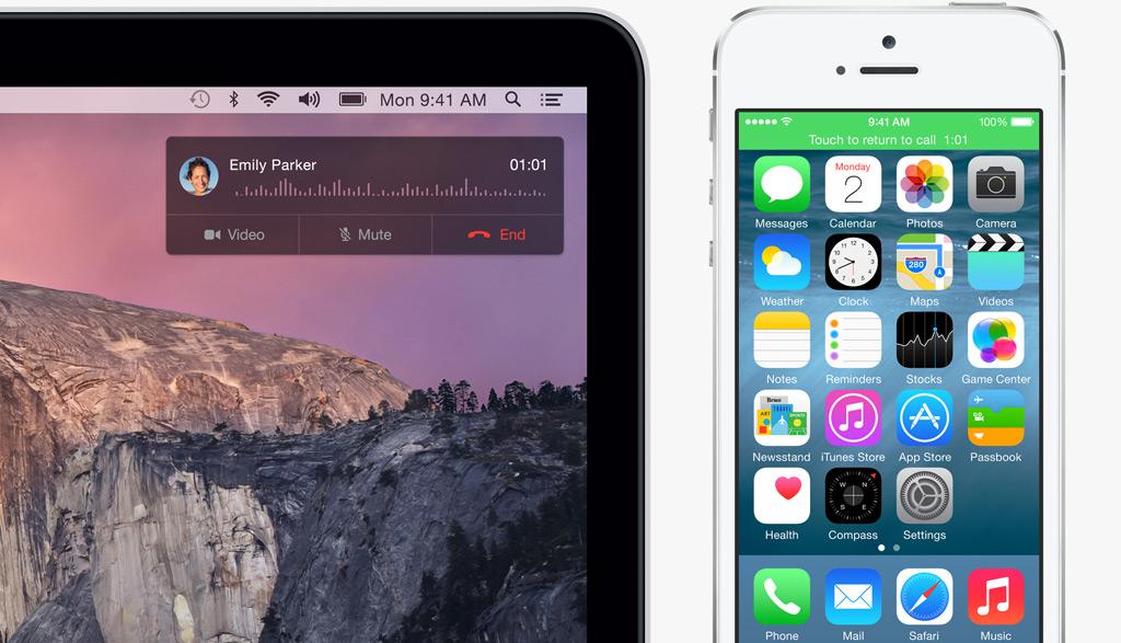 iOS8 맥과 아이폰 전화
