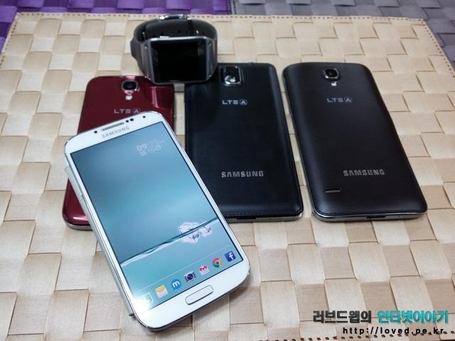 갤럭시 기어 갤럭시 라운드, 갤럭시S4, 갤럭시S4 LTE-A