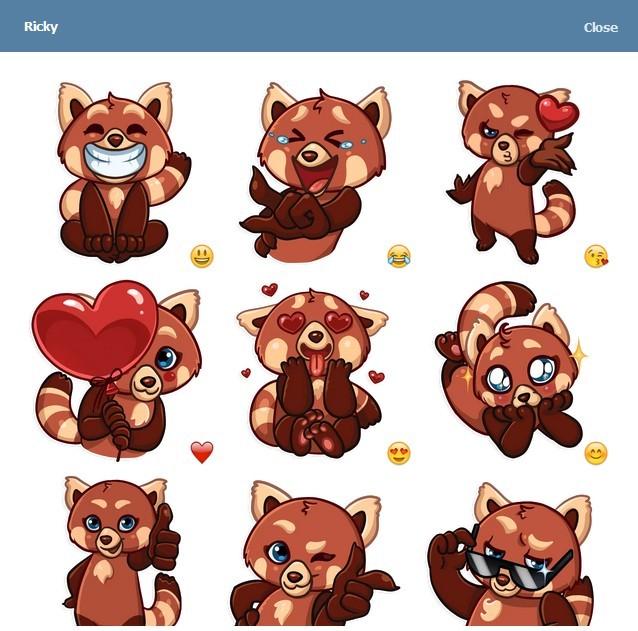 텔레그램 스티커 - Ricky Panda