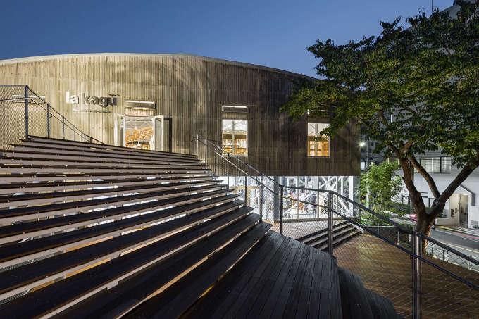 동경 도서물류창고의 리노베이션 Kengo Kuma And Associates La Kagu