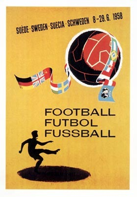 1958 Sweden World Cup poster