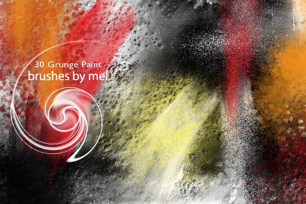 30 가지 무료 포토샵 그런지 페인트 브러쉬 - 30 Free Photoshop Grunge Paint Brushes