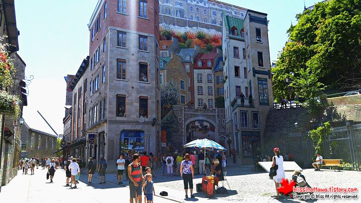 퀘벡시티 벽화