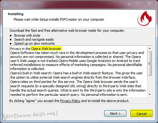먼가 설치하는 창이 나오는데 오페라 웹브라우저를 설치하려고 한다