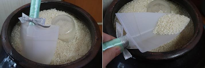 플라스틱 우유병으로 만든 쌀컵