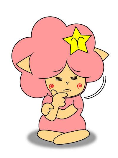 멜로 갸우뚱 캐릭터 스티커