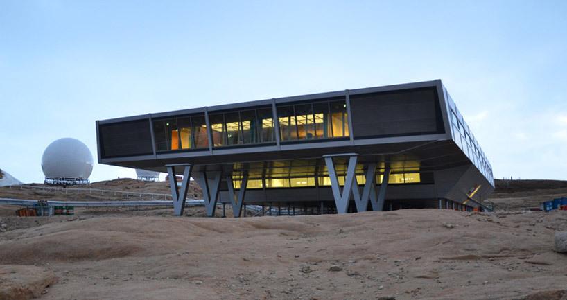 *컨테이너로 이루어진 남극 연구기지 [ bof arkitekten ] research station in antarctica built from 134 shipping containers