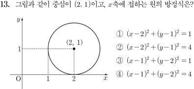 2014년도 제1회 고등학교 졸업학력 검정고시 수학 문제 13번