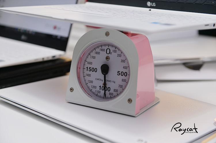 lg 그램15 무게 측정
