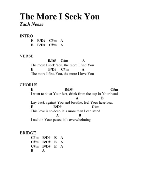 Modern The More I Seek You Chords Elaboration - Basic Guitar Chords ...