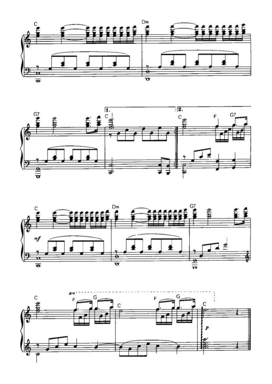 ballade pour adeline original piano sheet pdf