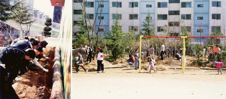신기초등학교 학교숲 나무심기