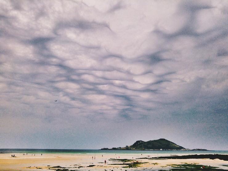 신비한 비양의 하늘