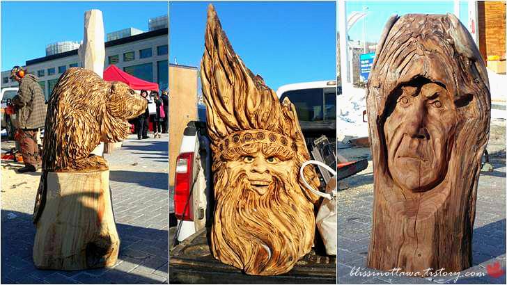 나무 조각품입니다