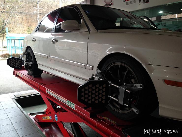 New EF V6 2.7 부싱 작업, 쇽 교체, 휠 타이어 교체 완료