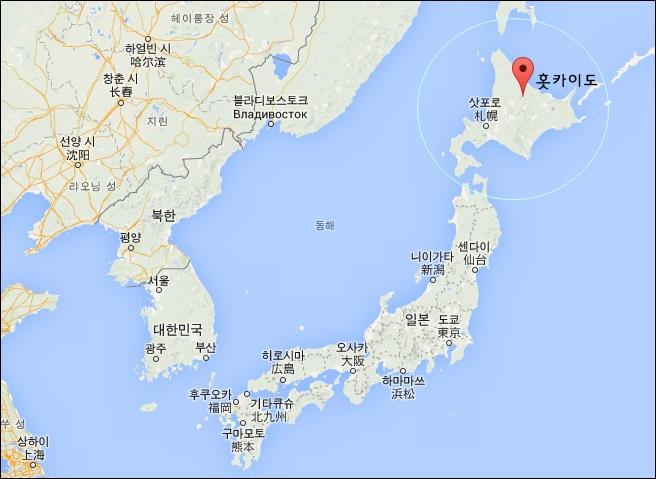 홋카이도 지도에 대한 이미지 검색결과