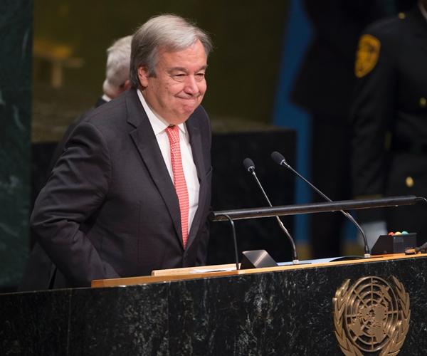 안토니우 구테헤스, 차기 유엔 사무총장으로 공식 선출