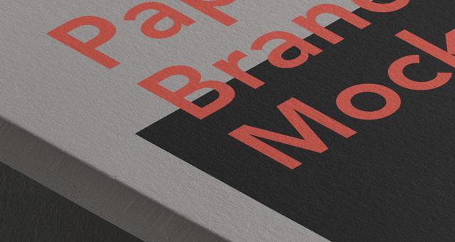 브랜드 종이 목업 Mockup PSD