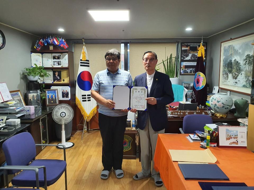 전우와함께 단장 김홍준, (사)국제해외파병평화봉사교류연합회 공연단장 임명장 받아