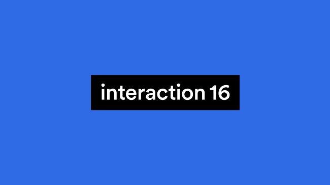 [해외교육] Interaction16 참관기
