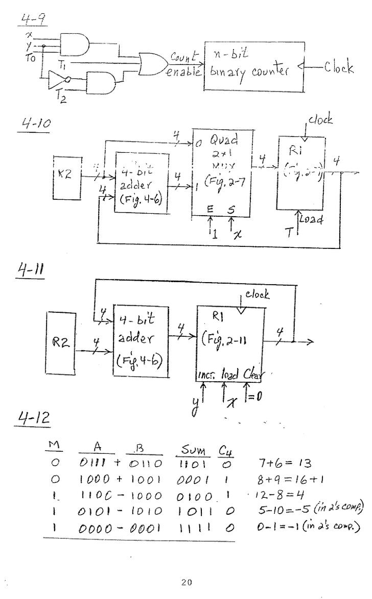 컴퓨터구조 연습문제, 모리스 마노 챕터4 20