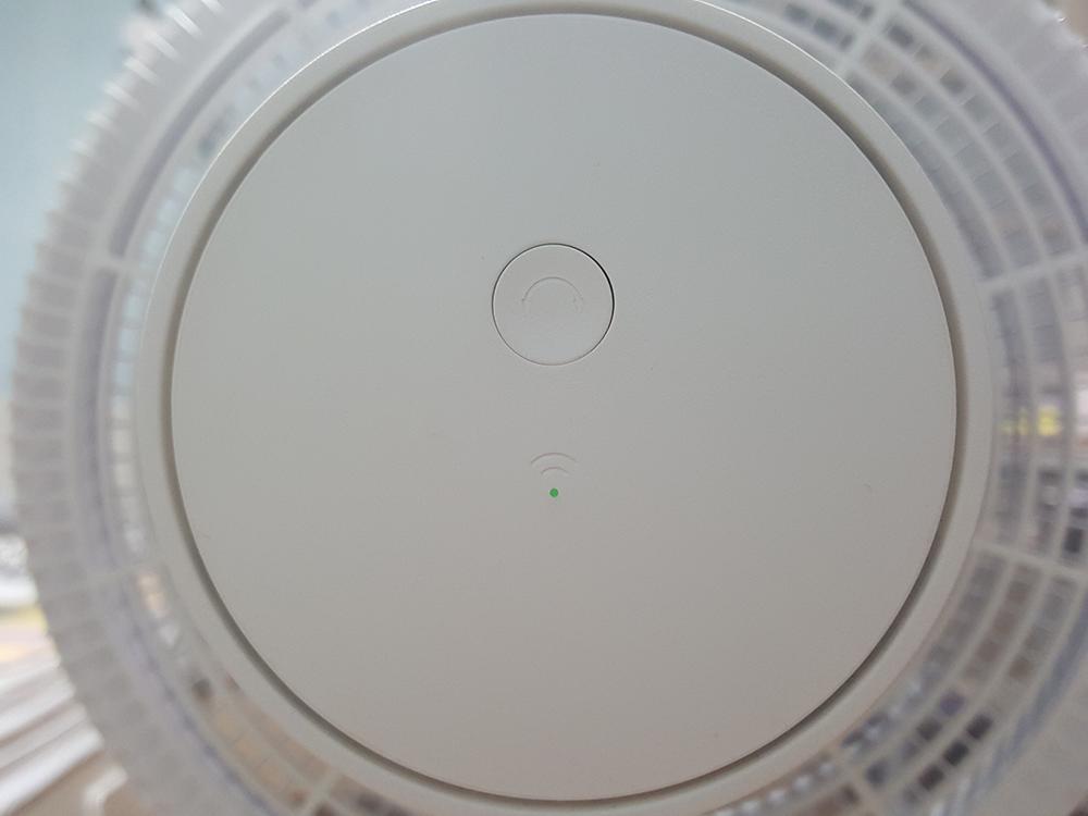 샤오미 스마트 선풍기 모터 후면 및 회전 버튼