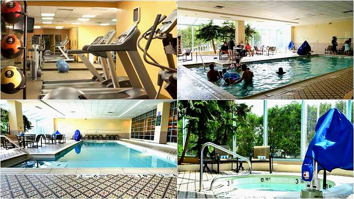 피트니스 센터 및 실내 수영장입니다