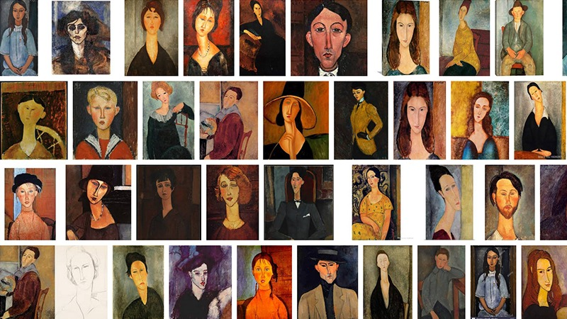 사진: 모딜리아니의 모든 그림은 갸름하고 길쭉한 외모를 가졌다.