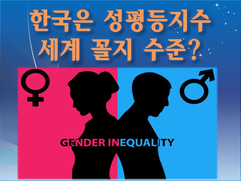 우리나라의 성평등 순위는 세계 꼴지 수준? (WEF 성평등지수의 허구성)