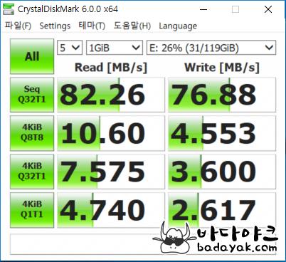 SSD 속도 측정 삼성 노트북9 올웨이즈