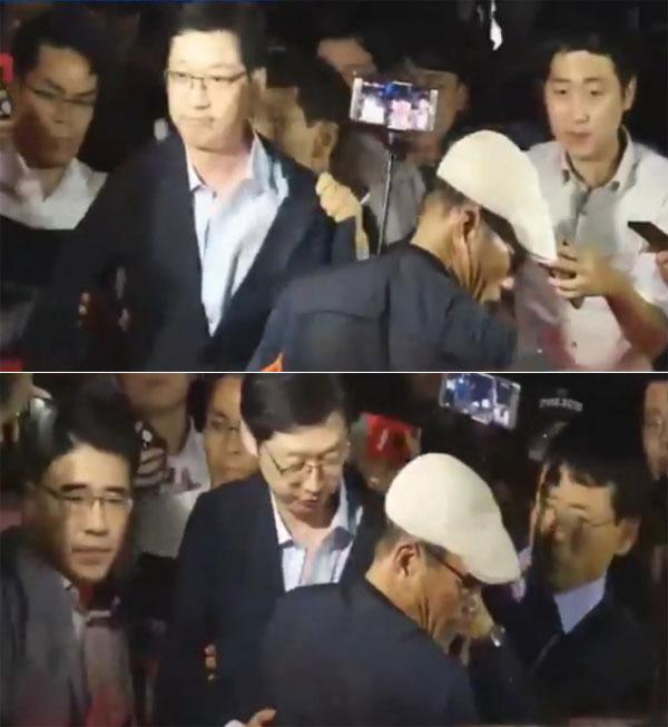 특검 조사 마친 김경수 폭행 당해. 민주당 일 좀해라.